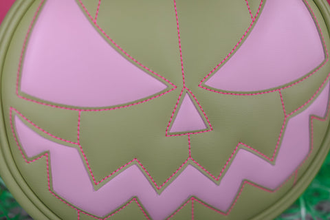 Hand Crafted : Pastel Mean Face Green and Pink