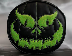 Hand Crafter: Black and Green Evil Pumpkin