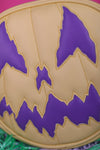 Hand Crafted : Pastel Stark Ravin Yellow and Eggplant Purple