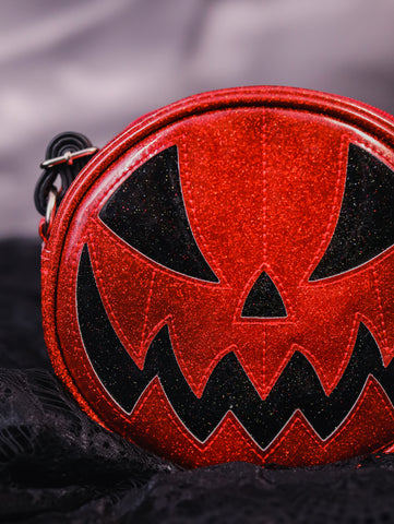 Pumpkin Kult: Mean Baby - Glitter Red Pumpkin Bag