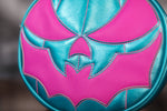 Hand Crafted : Bat Mouth Metallic Blue and Pink