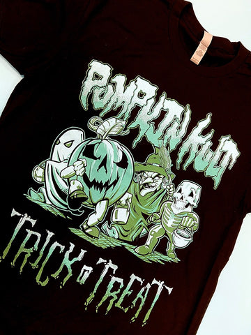 Pumpkin Kult Trick r' Treat Unisex Tee- Teal