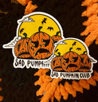 Sad Pumpkin Club Sticker