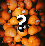 Pumpkins with a question mark in the middle