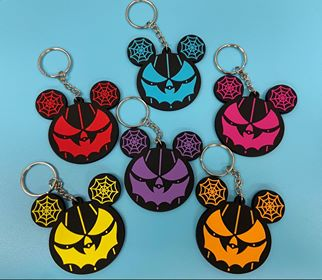 PVC Rubber Spider web Ear Keychains