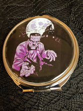 Load image into Gallery viewer, Purple monster Compact Mirror
