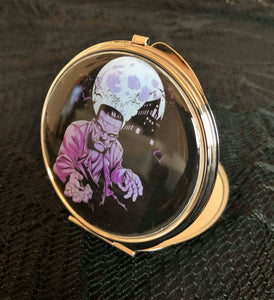 Purple monster Compact Mirror