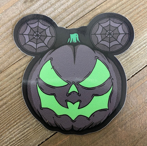Bat mouth Pumpkin sticker