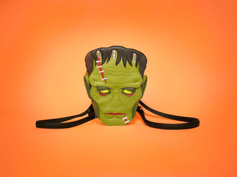 Monster bag in front of orange background