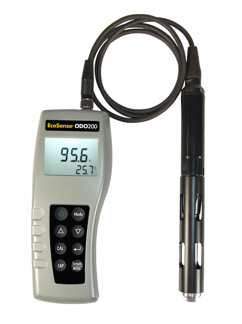 ECOSENSE ODO200 OPTICAL DISSOLVED OXYGEN, TEMP, INSTRUMENT & ACCESSORIES