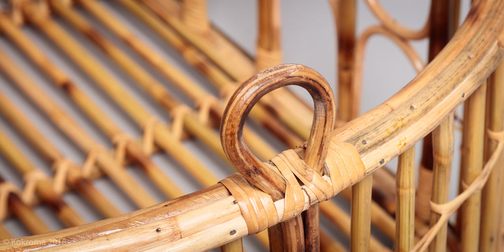 Detail of the Kokro bamboo baby basket