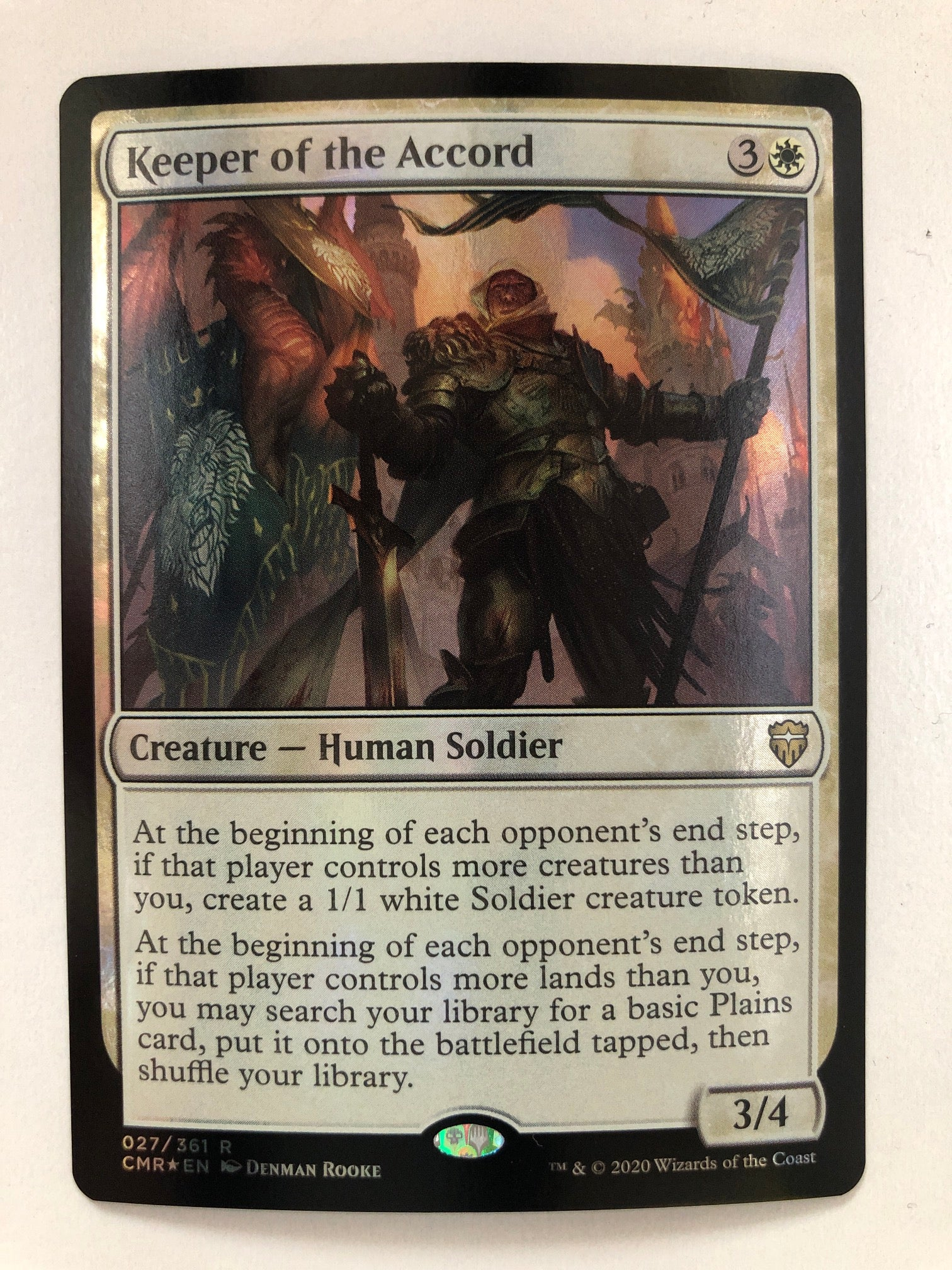 Keeper of the Accord - CMR 027/361 R (Foil) (M/NM)