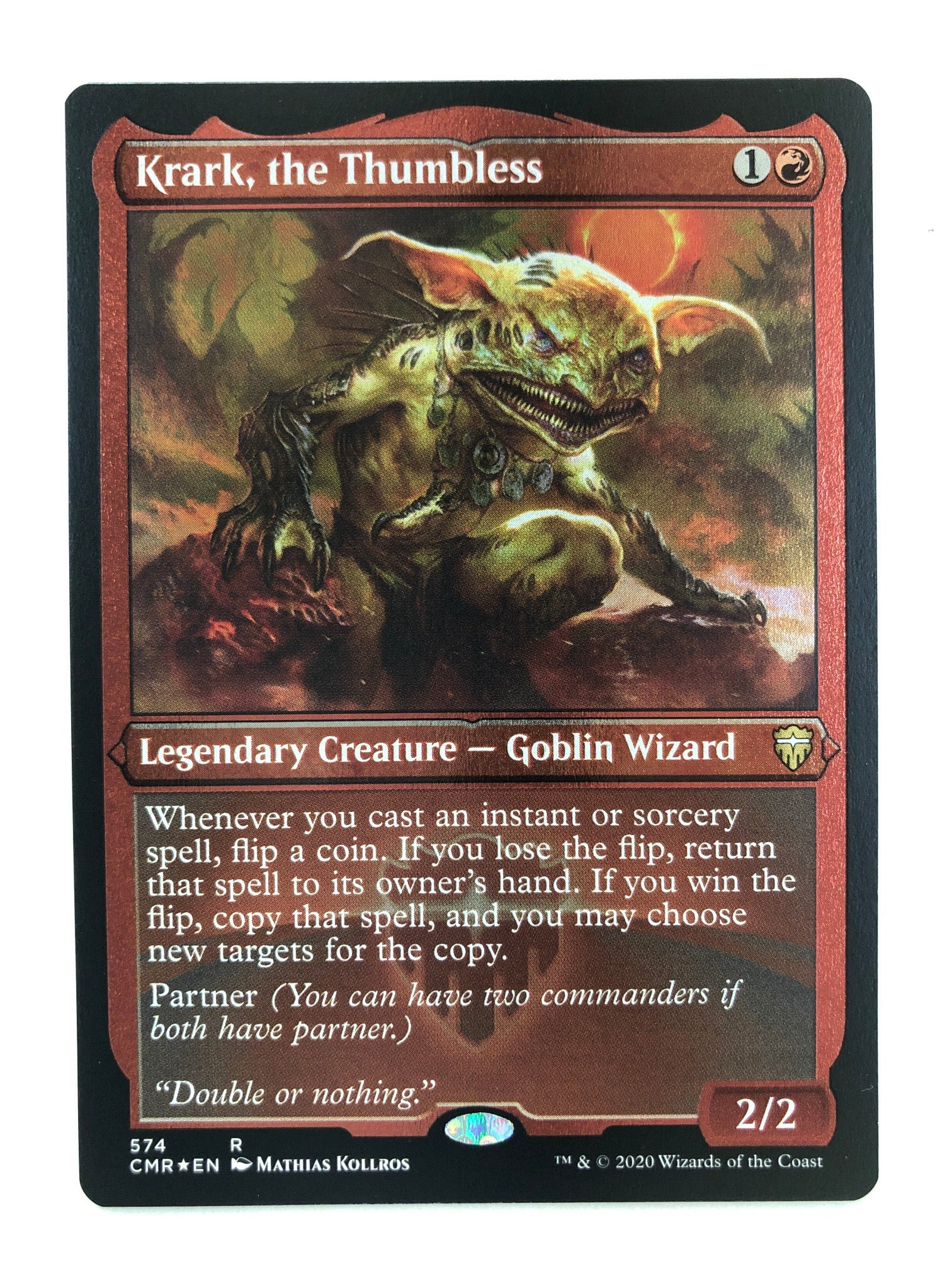Krark, the Thumbless - CMR 189/361 R (Foil Etched) (M/NM)
