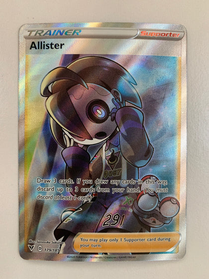 Allister - 179/185 SWSH Vivid Voltage Full Art Holo Ultra Rare Trainer (M/NM)