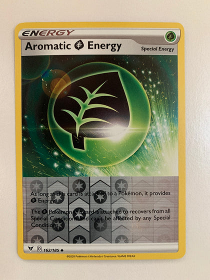 Aromatic Energy - 162/185 SWSH Vivid Voltage Reverse Holo Uncommon (M/NM)