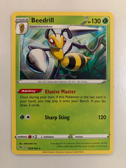 Beedrill - 003/185 SWSH Vivid Voltage Rare (M/NM)