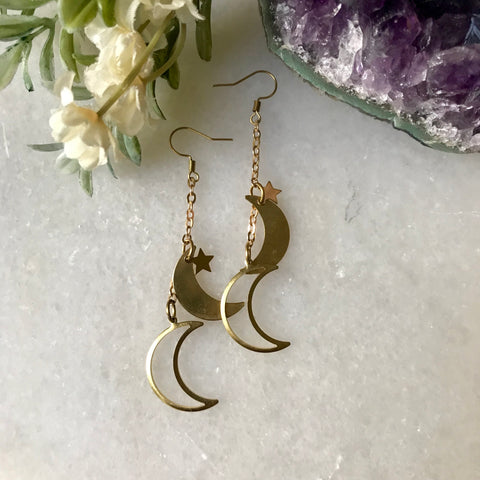 Gemini Moon Earrings