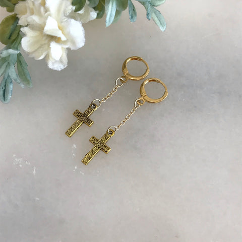 Tiny Hoops with Cross