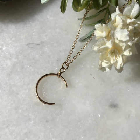 Minimalist Moon Necklace