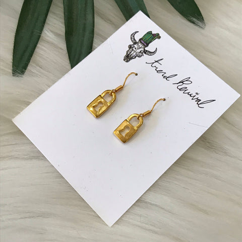 Padlock Gold Earrings