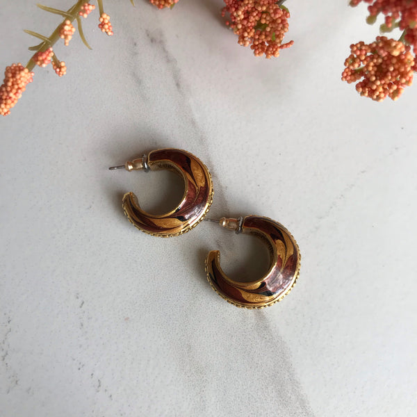 Praline Crescent Earrings