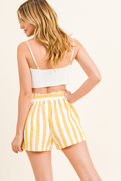 Lemon Slice Trouser Linen Shorts