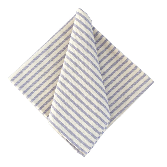 Melograno European Dinner Napkins - Stripe