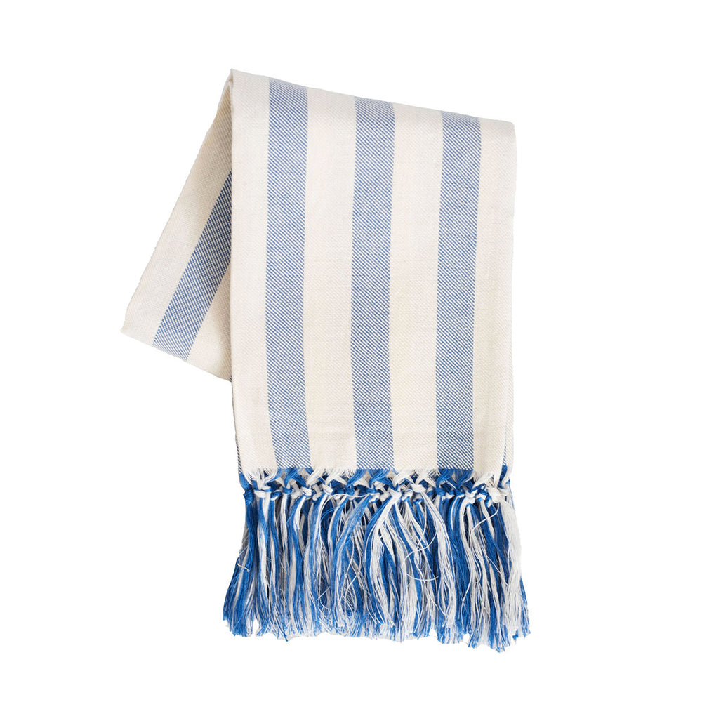 Briscola Rigatta European Hand Towel - Bright Blue