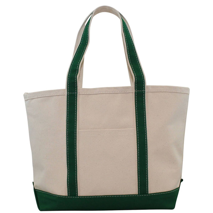 Medium Boat Tote - Hunter Green