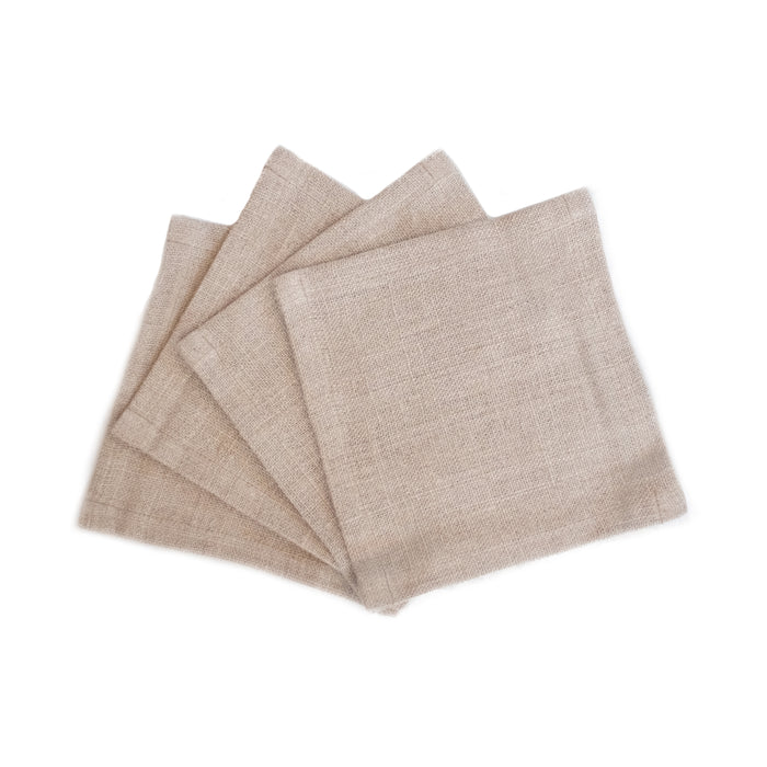 Solid Natural Cocktail Napkins