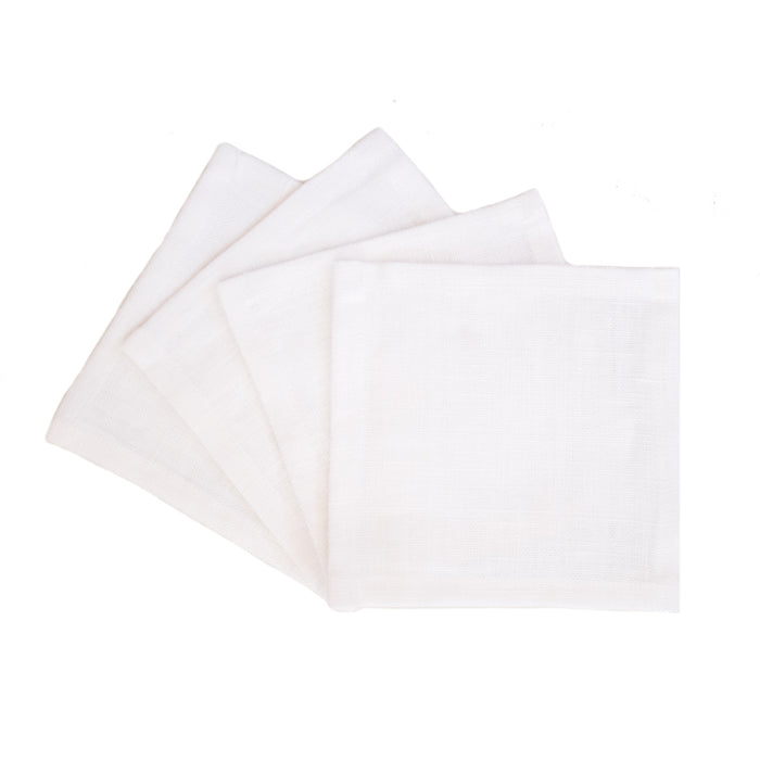 Solid White Cocktail Napkins