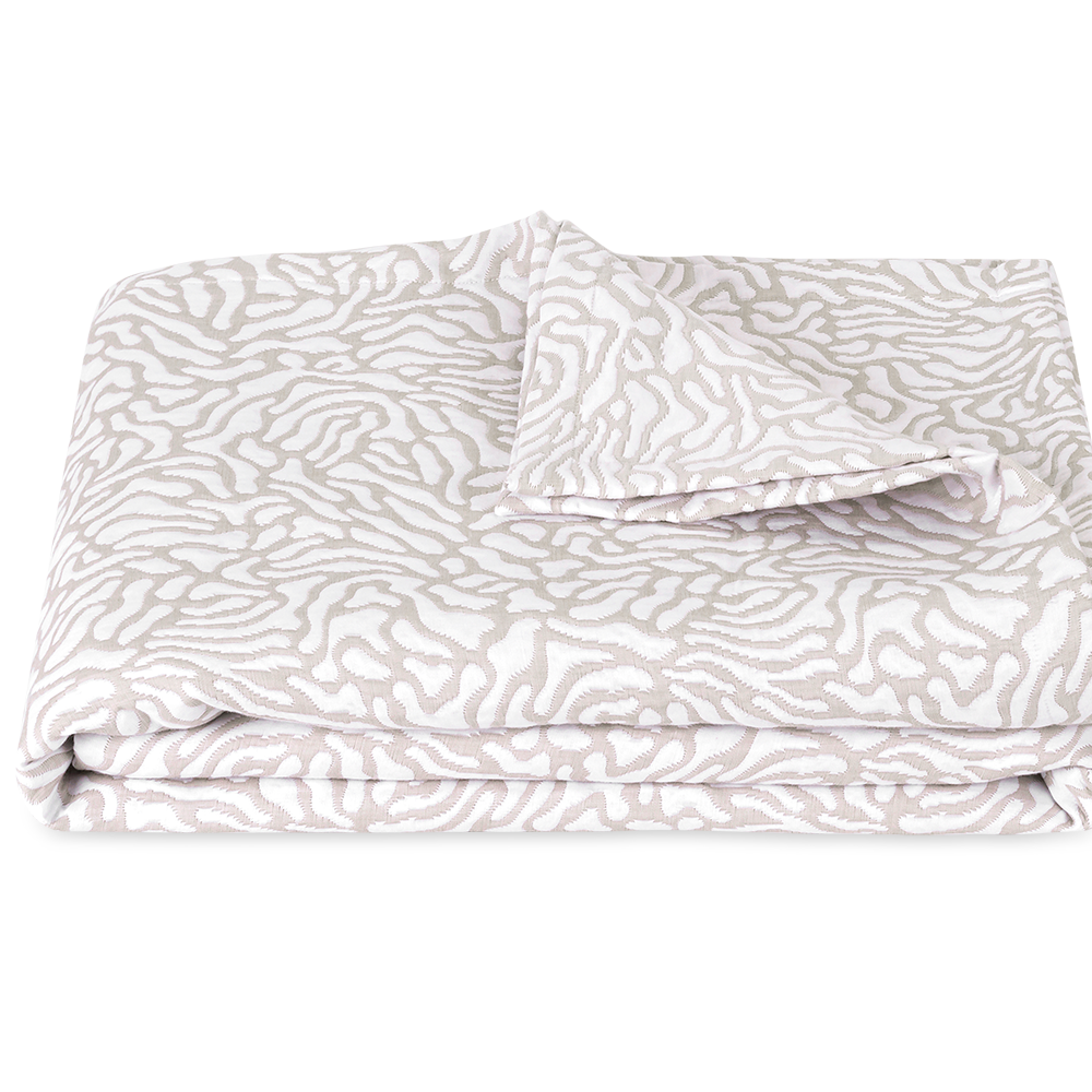 Cora King Coverlet - Natural/White
