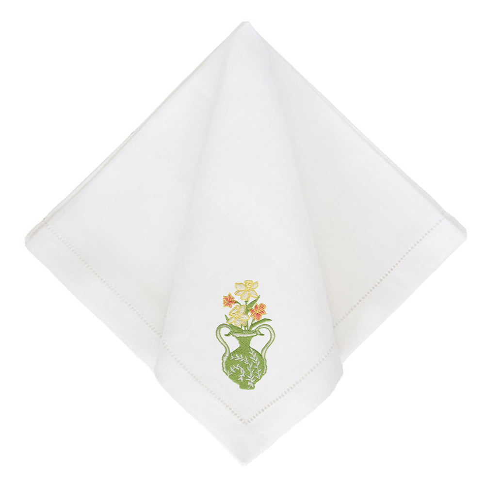 Daffodil on Festival Dinner Napkins