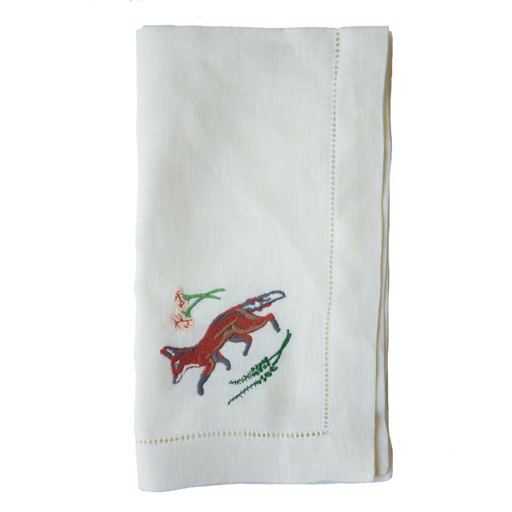 Fox Dinner Napkins X Jill Delavan