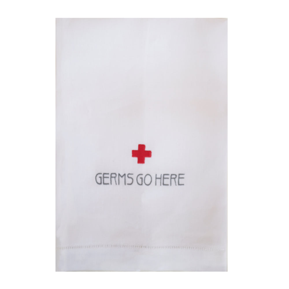 Germs Go Here Hand Towel