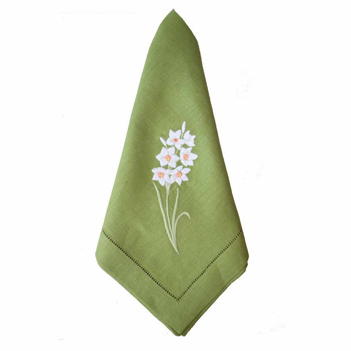 Daffodil Dinner Napkins - Green