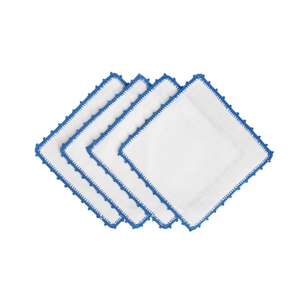 Bella Cocktail Napkins - Cobalt