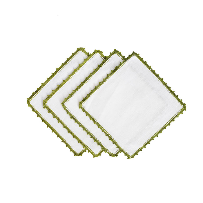Bella Cocktail Napkins - Olive