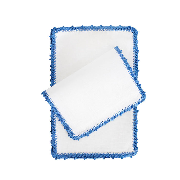 Bella Fold-over Cocktail Napkins - Cobalt