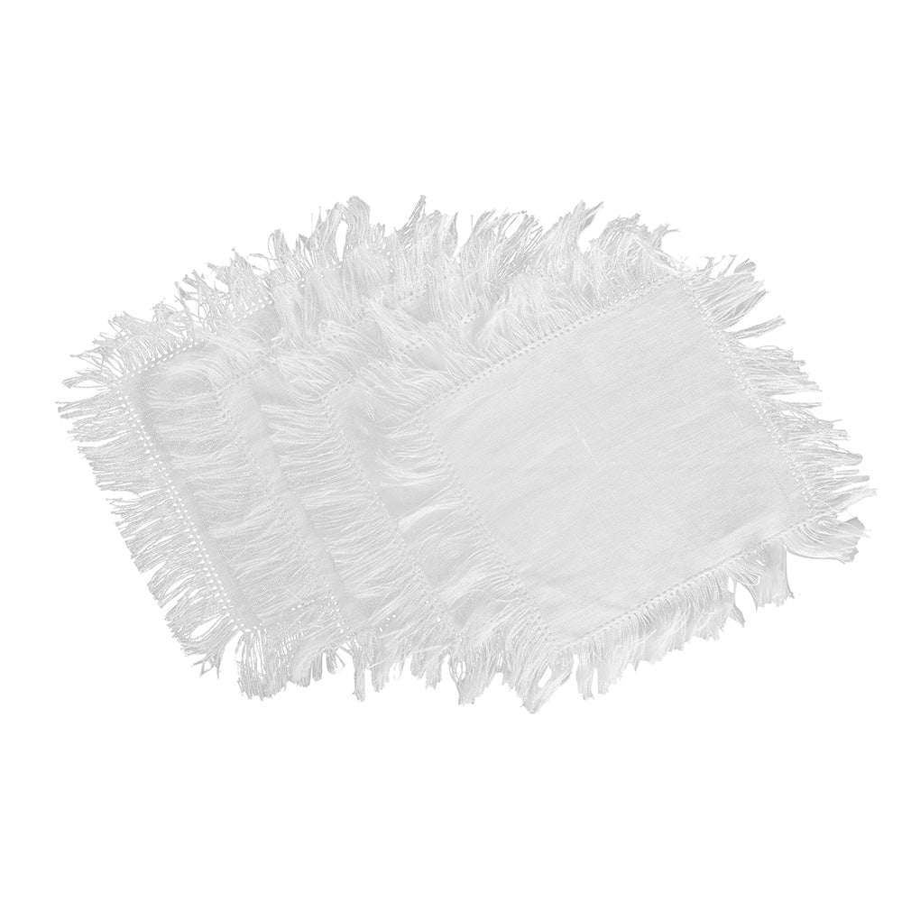 Fringe Cocktail Napkins - White
