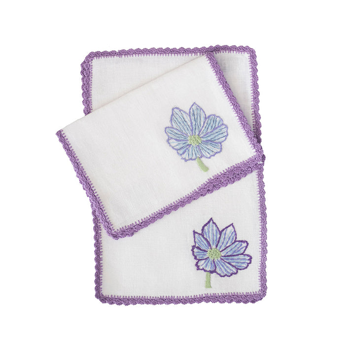 Violet Blooms Cocktail Napkins