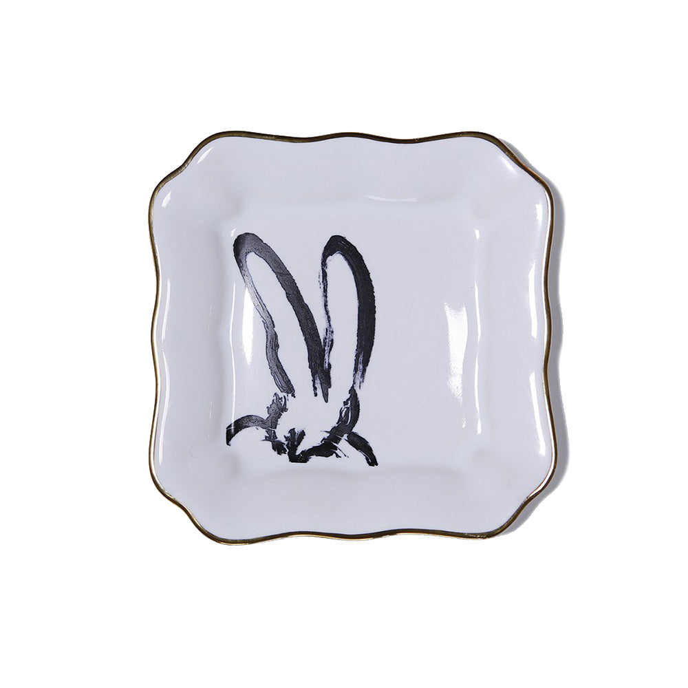 Bunnies Dish - White