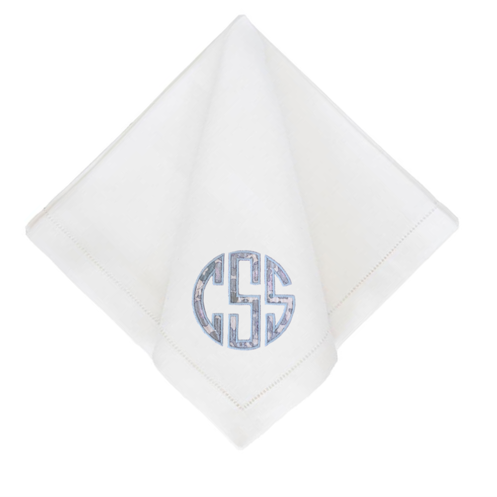 Liberty Appliqué Dinner Napkins - White