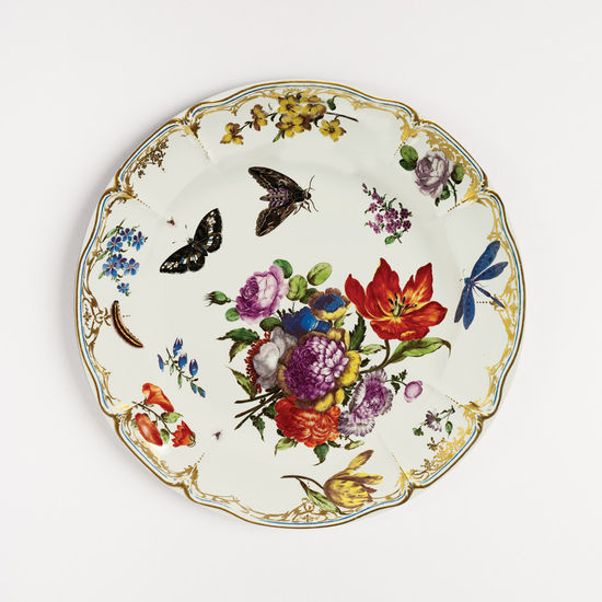 Pink Butterfly Tin Plate