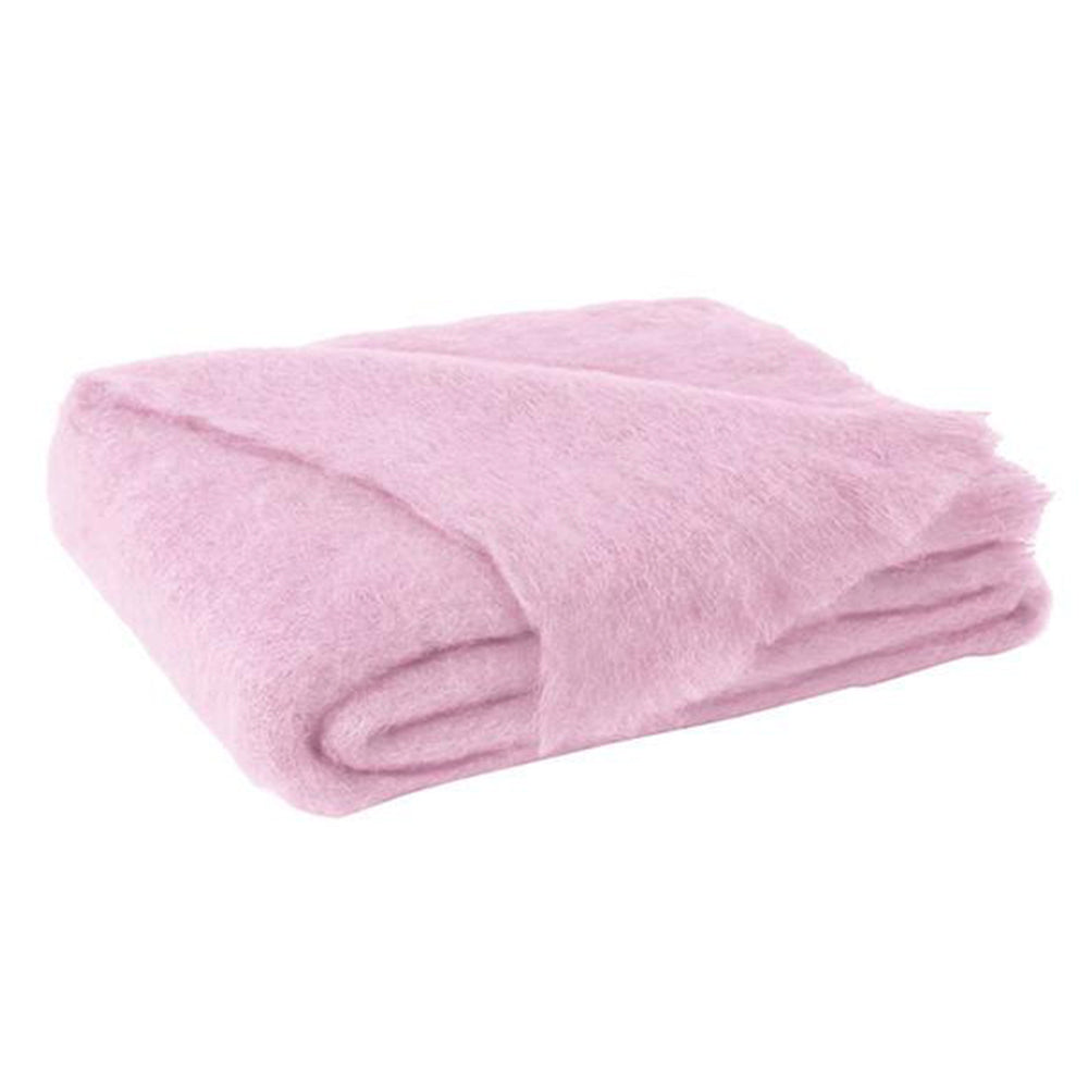 Mohair Throw - Cotton Candy