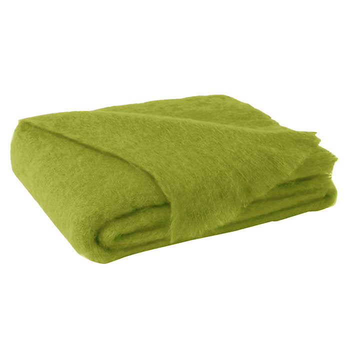 Mohair Throw - Pesto