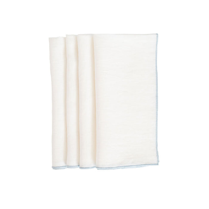 Duet Dinner Napkins - White / Marine