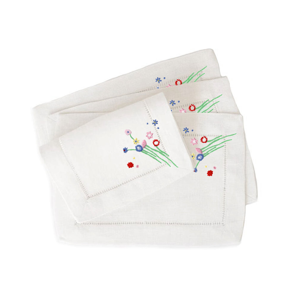 Little Bitty Floral Cocktail Napkins