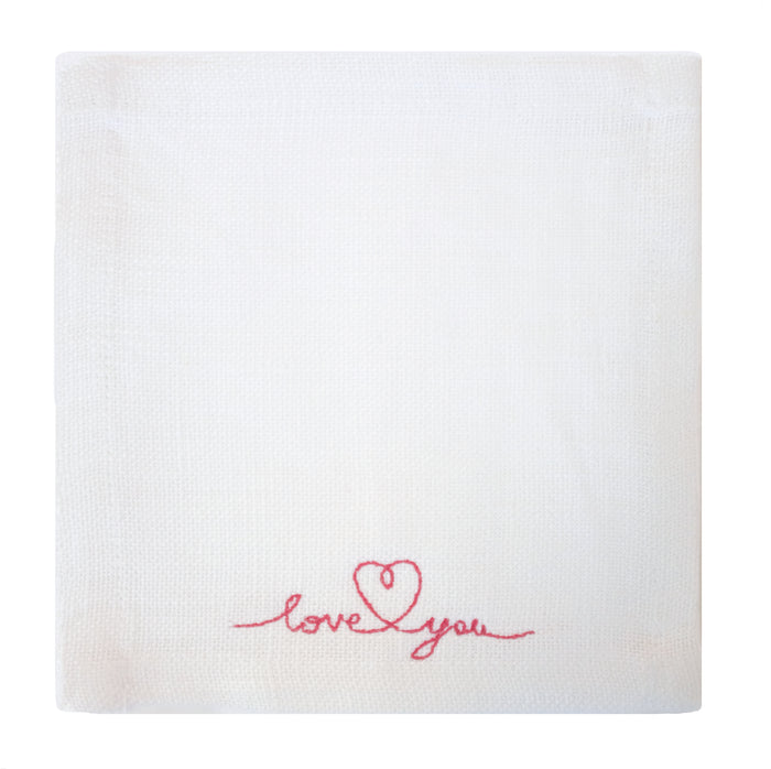 """Love You"" Cocktail Napkins"