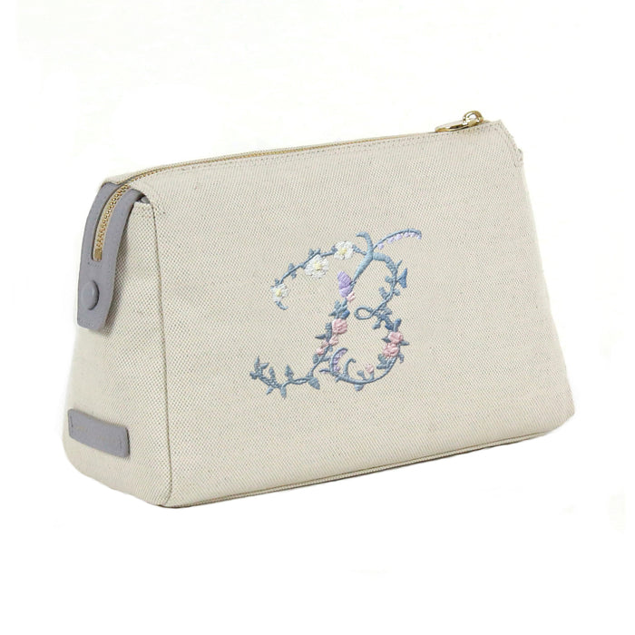 Canvas Pouch with Riley Sheehey Floral Alphabet